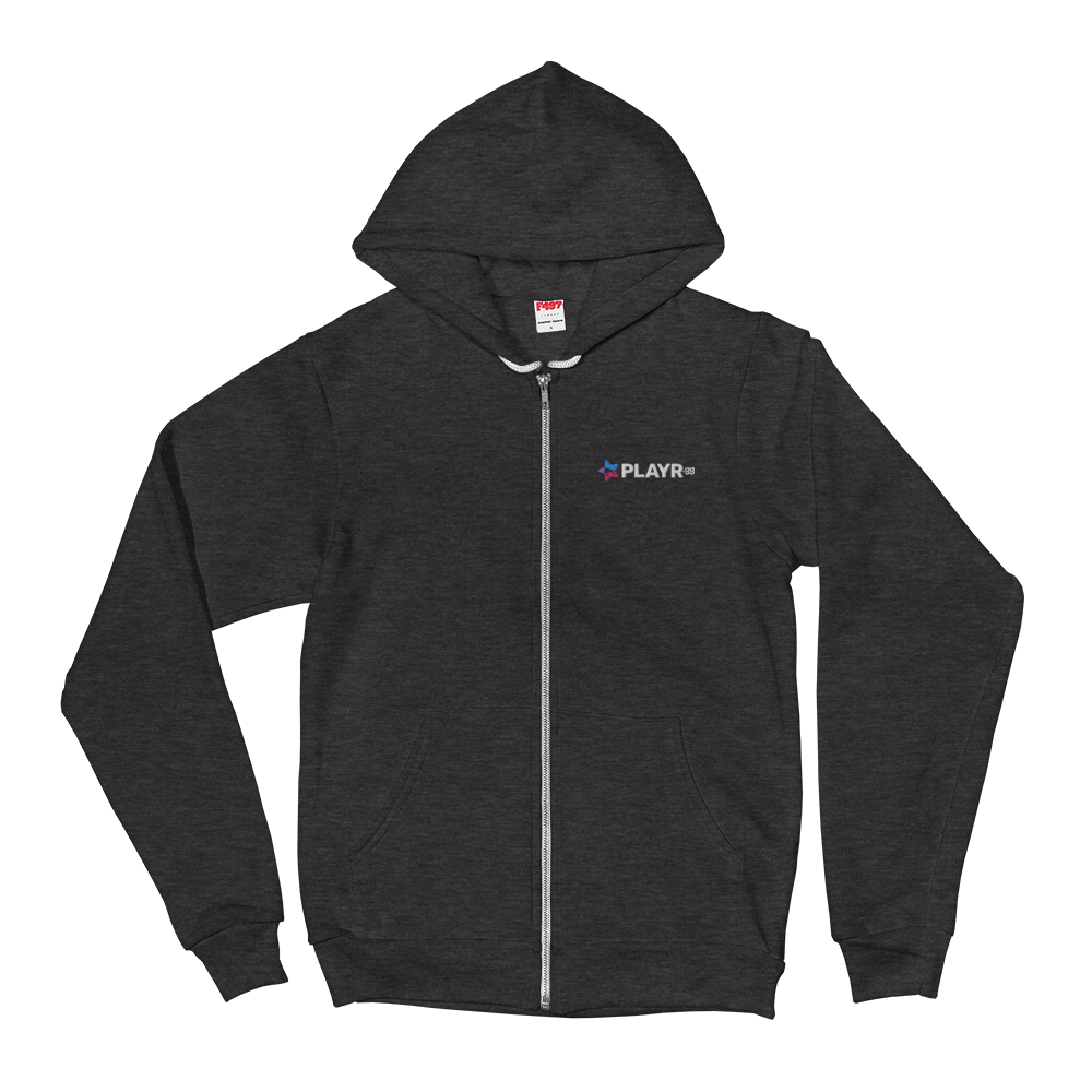 PLAYR.gg Embroidered Unisex Zip Hoodie