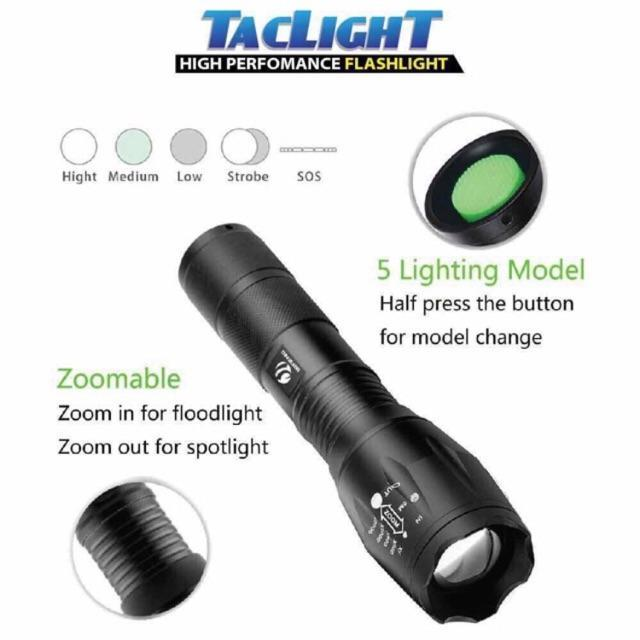 Taclight High Powered Military Grade Flashlight – Greenventory Philippines
