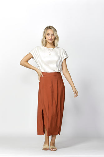 Take My Hand Slit Skirt | Warm Ginger
