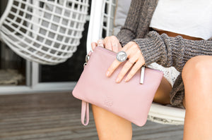 Stitch & Hide - Cassie Clutch - Dusty Rose - The Corner Store Yamba
