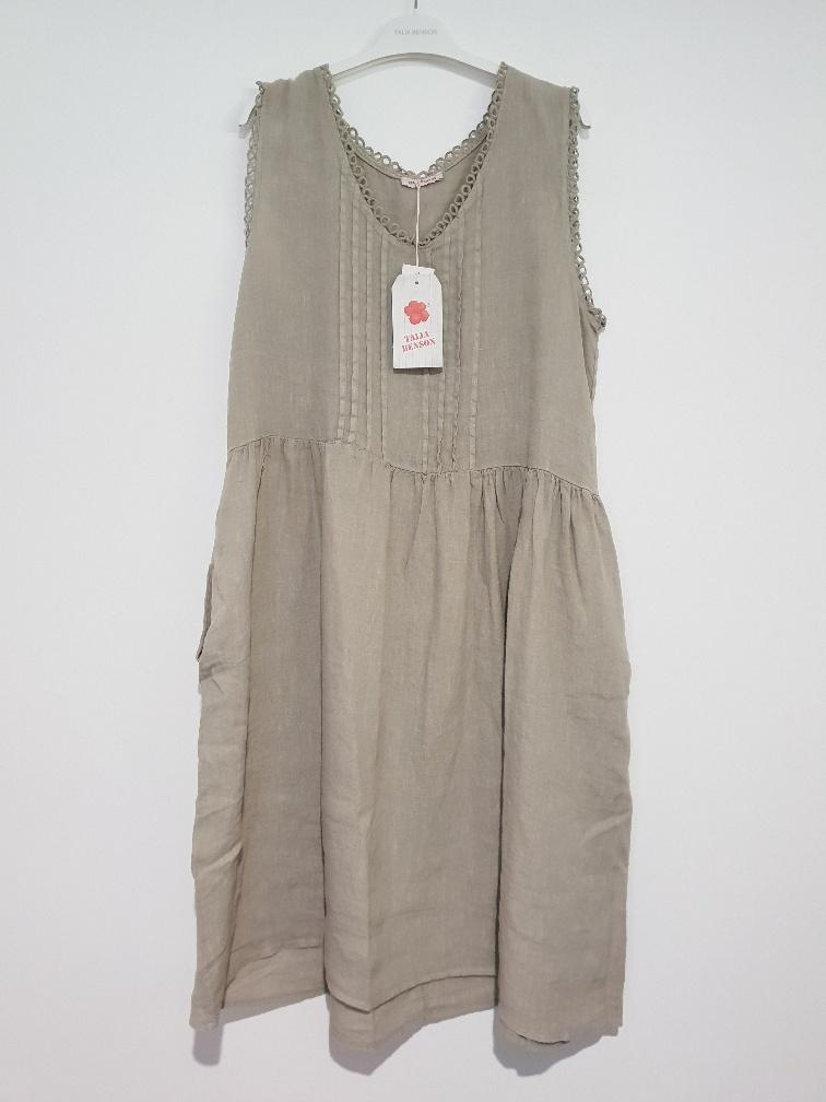 Ebroidered Summer Linen Dress by Talia Benson.