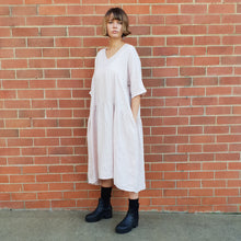 Load image into Gallery viewer, Italian Linen Layered Linen Dress