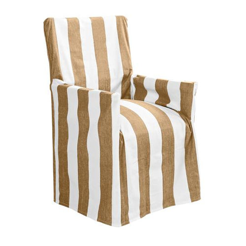 Outdoor Stripe Director Chair Cover Taupe