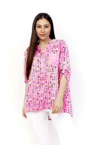Amici made in italy Spotty Sequin Top | Pink