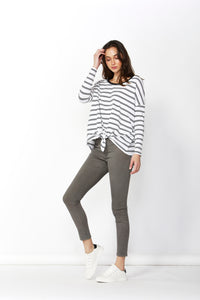 Willow Knot Top - Black Stripe