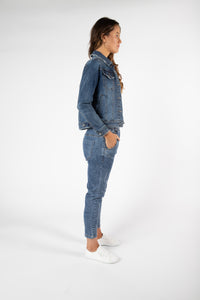 Casey Denim Jacket | Dark Blue