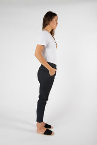 Finley Denim Jogger | Black
