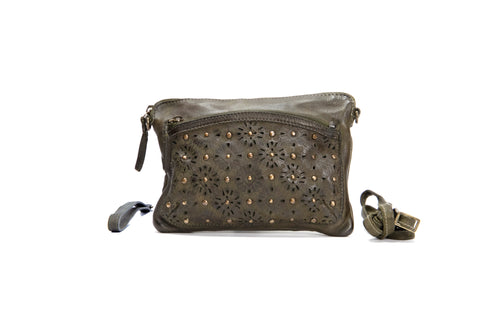 From Places Afar Sling Bag - Mud Olive