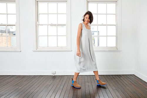 Montaigne Paris, Italian Linen Luca Dress | Silver, The Corner Store Yamba, Linen Dress, Linen Cltohing