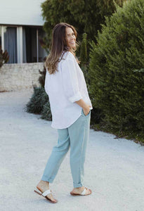Humidity Lifestyle Linen Sunday Shirt | White