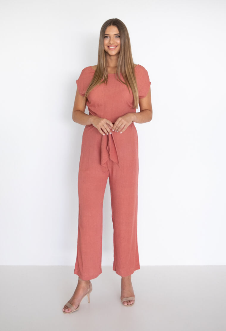 Capri Jumpsuit | Terracotta