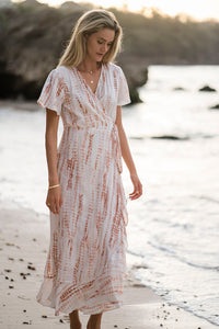 Jessie Wrap Dress - Maple Humidity Lifestyle Clothing, Linen Clothing, The Corner Store Yamba