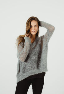 HUMIDITY LIFESTYLE LUXE V KNIT ICE GREY