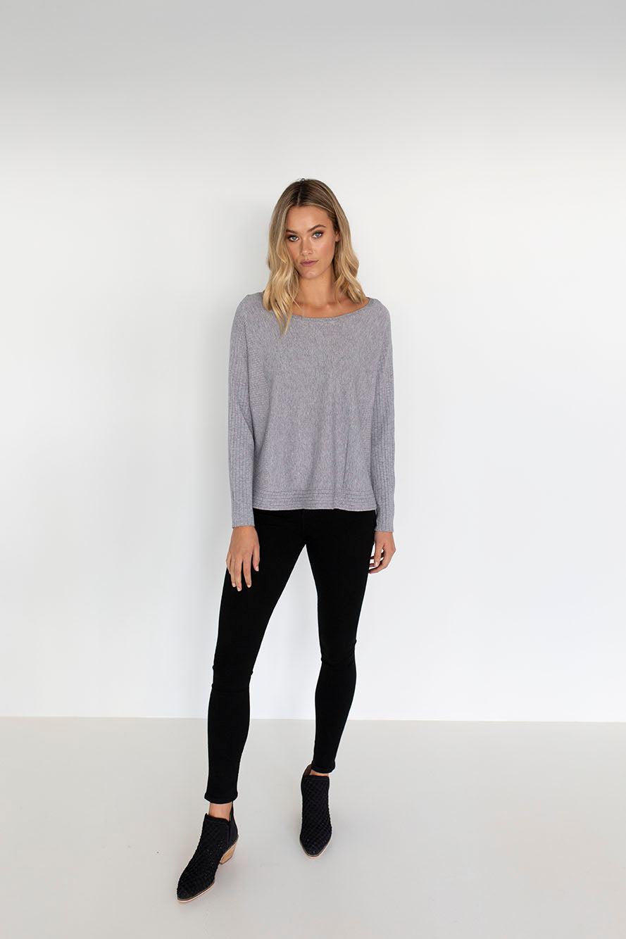 Lexi Top | Light Grey
