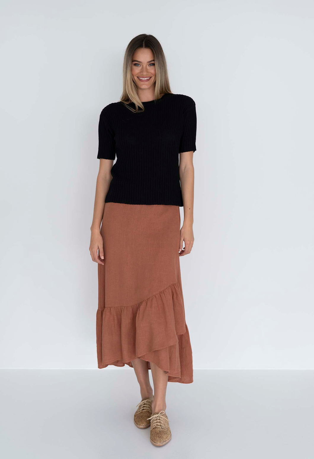 MACY WRAP SKIRT - CINNAMON