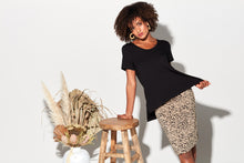 Load image into Gallery viewer, The Midi Whitney Tube Skirt | Leopard