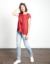 Load image into Gallery viewer, Montaigne Paris Italian Linen Isabell Top