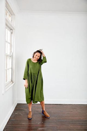 MONTAIGNE PARIS ITALIAN LINEN TUSCANY DRESS
