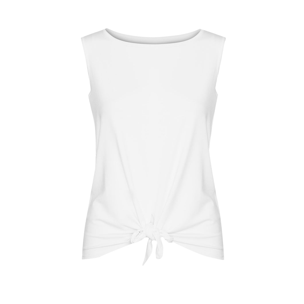 The Billie Tie Front Tank | White