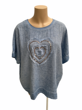 Load image into Gallery viewer, Amici Made in Italy Cuore Sequin Heart Top, The Corner Store Yamba