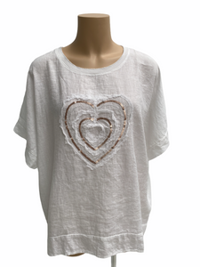 Amici Made in Italy Cuore Sequin Heart Top, The Corner Store Yamba
