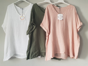 Italian Linen T-Shirt - Grande ALL COLOURS