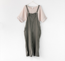 Load image into Gallery viewer, Italian Linen Dungarees