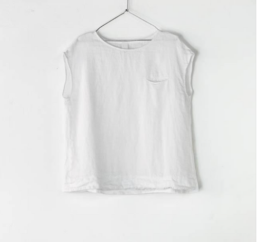 Montaigne Paris Italian Linen Isabella Top