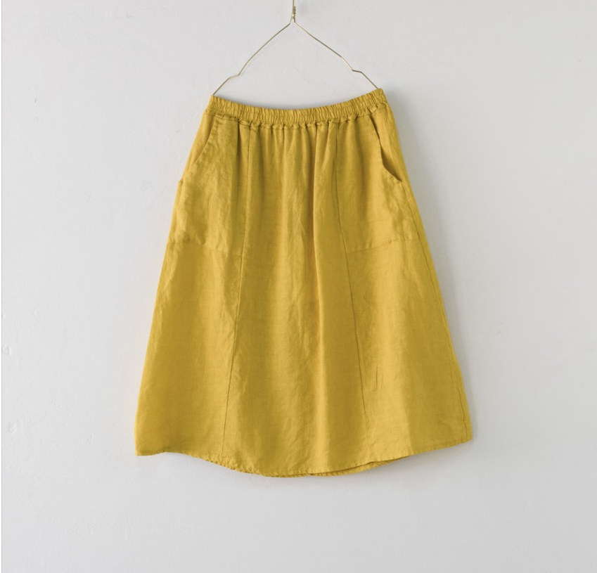 Montaigne Paris Italian Linen Maria Skirt
