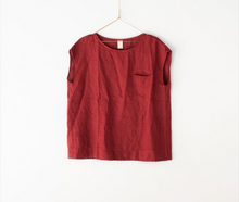 Load image into Gallery viewer, Montaigne Paris Italian Linen Isabella Top