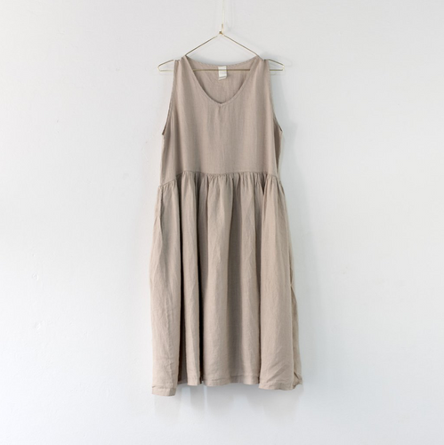 Montaigne Paris Italian Linen Pia Dress
