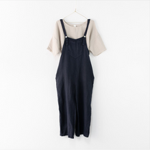 Load image into Gallery viewer, Montaigne Paris Italian Linen Dungarees