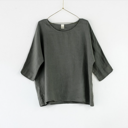 Montaigne Paris Italian Linen Florence Top
