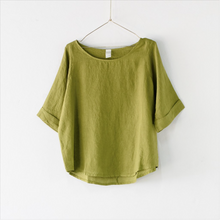 Load image into Gallery viewer, Italian Linen Mia Top