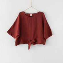 Load image into Gallery viewer, Montaigne Paris Italian Linen Georgina Top