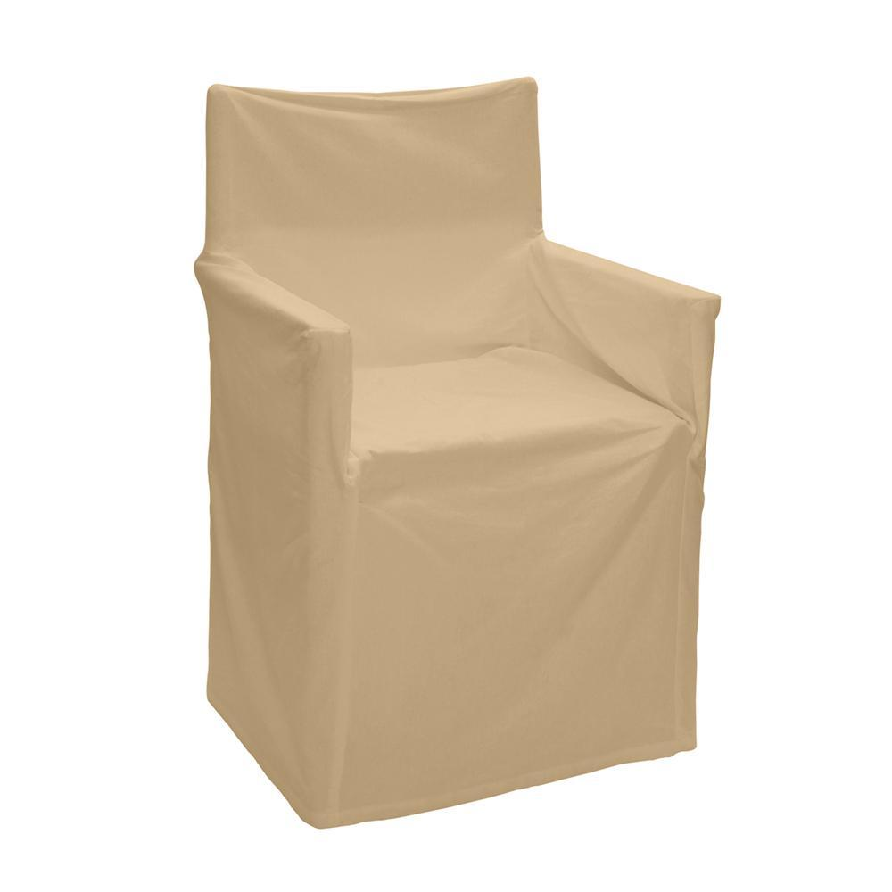 Outdoor Solid Director Chair Cover Std Taupe