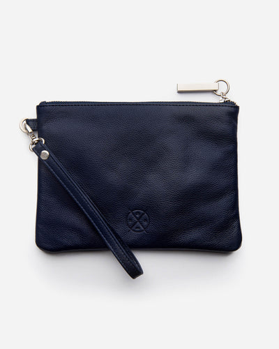 Stitch & Hide - Cassie Clutch - Navy - The Corner Store Yamba