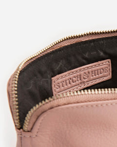 Stitch & Hide - Lucy Pouch - Dusty Rose - The Corner Store Yamba