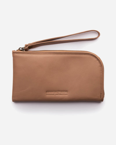 Stitch & Hide Zoe Clutch - Classic - Latte - The Corner Store Yamba