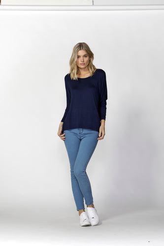 Milan 3/4 Top - Navy