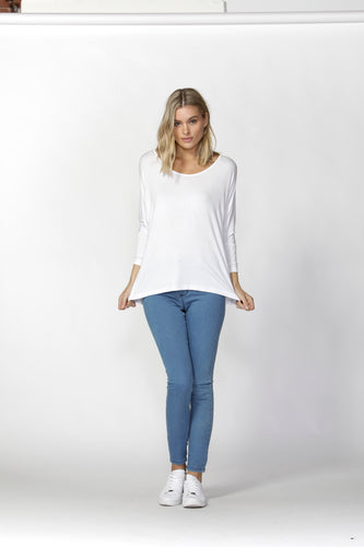 Milan 3/4 Top - White
