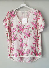 Load image into Gallery viewer, TALIA BENSON ITALIAN LINEN TSHIRT SMALL FLORAL The Corner Store Yamba