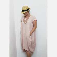 Load image into Gallery viewer, Italian Linen Positano Dress