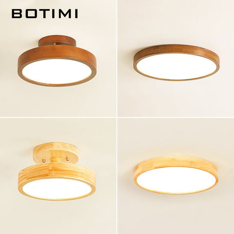Japanese Natural Wood Ceiling Lights