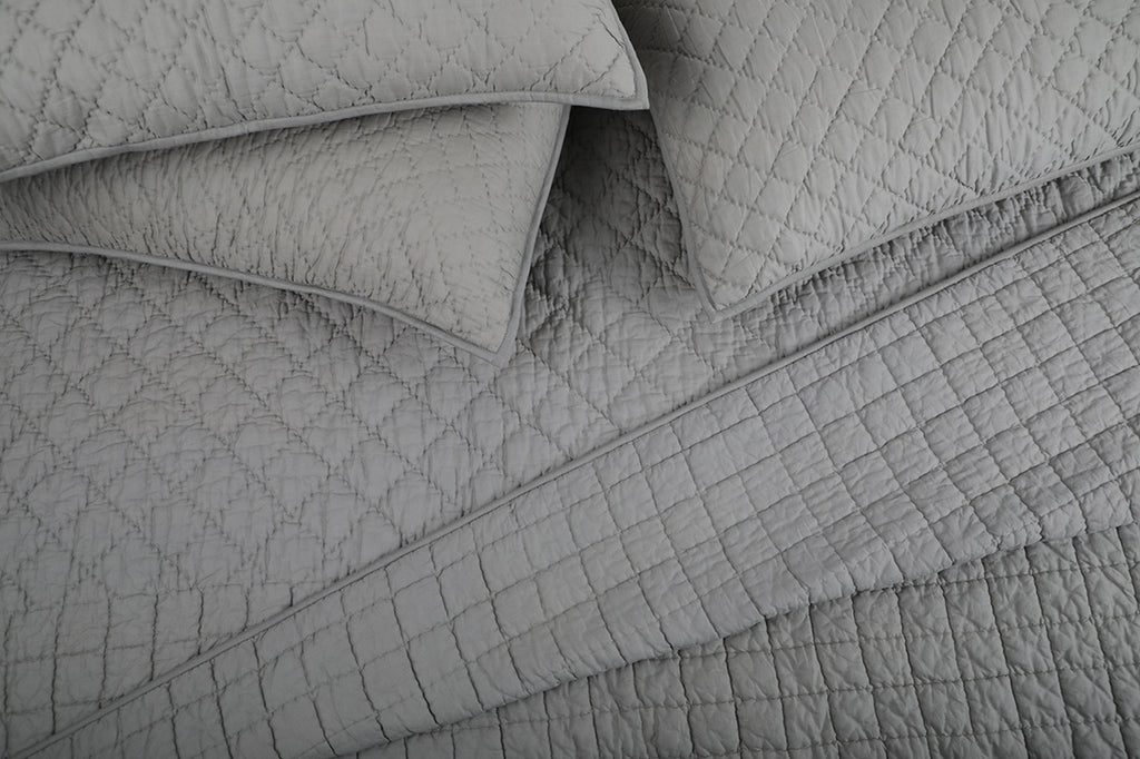 Fossil Grey - All Weather Organic Quilt Coverlet
