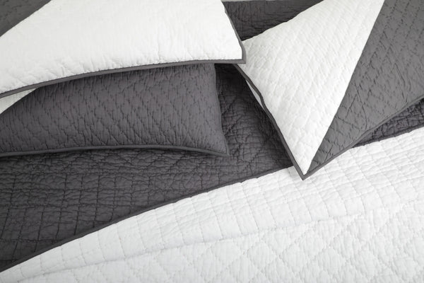 Charcoal - All Weather Organic Quilt Coverlet