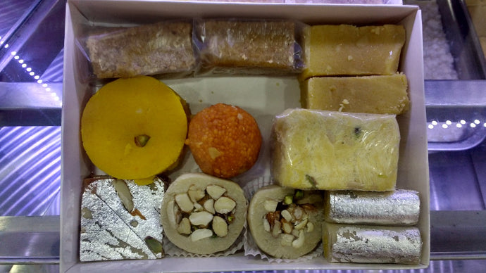 Premium Assorted Sweet Box - Dry Fruit Cashew and Ghee Sweets