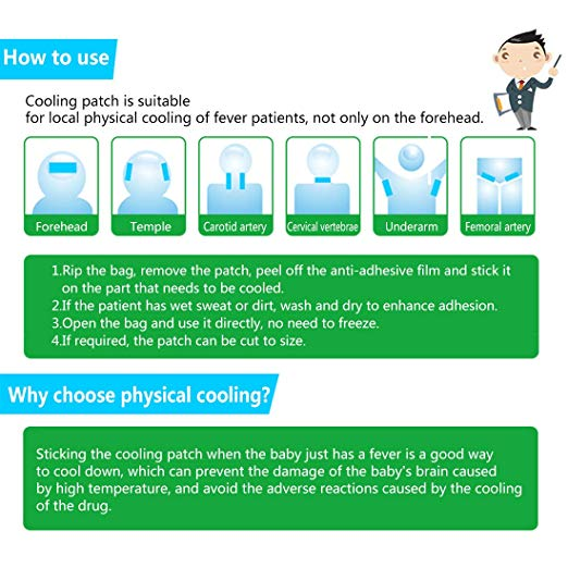 Baby Cooling Fever Gel Patch