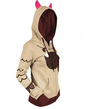 Dinosaur Spikes And Horns Embellished Hoodie