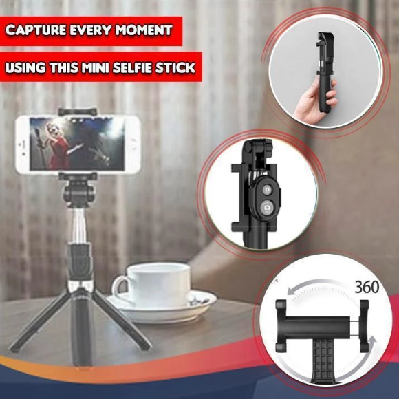 【Hot Sale】3 In 1 Wireless Bluetooth Selfie Stick